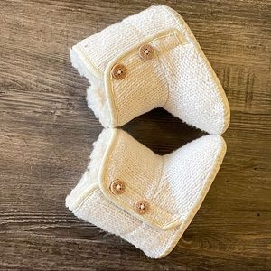 UGG baby boots with button detail and Velcro close